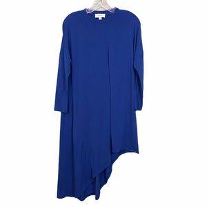 Carven Sz Xs Blue Asymmetrical Dress